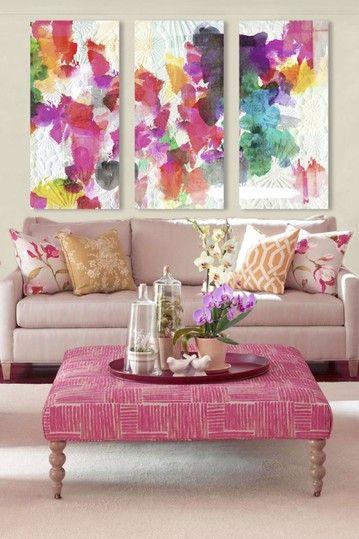 Me encanta el canvas | SALA | Pinterest | Triptych, Oliver gal and ...