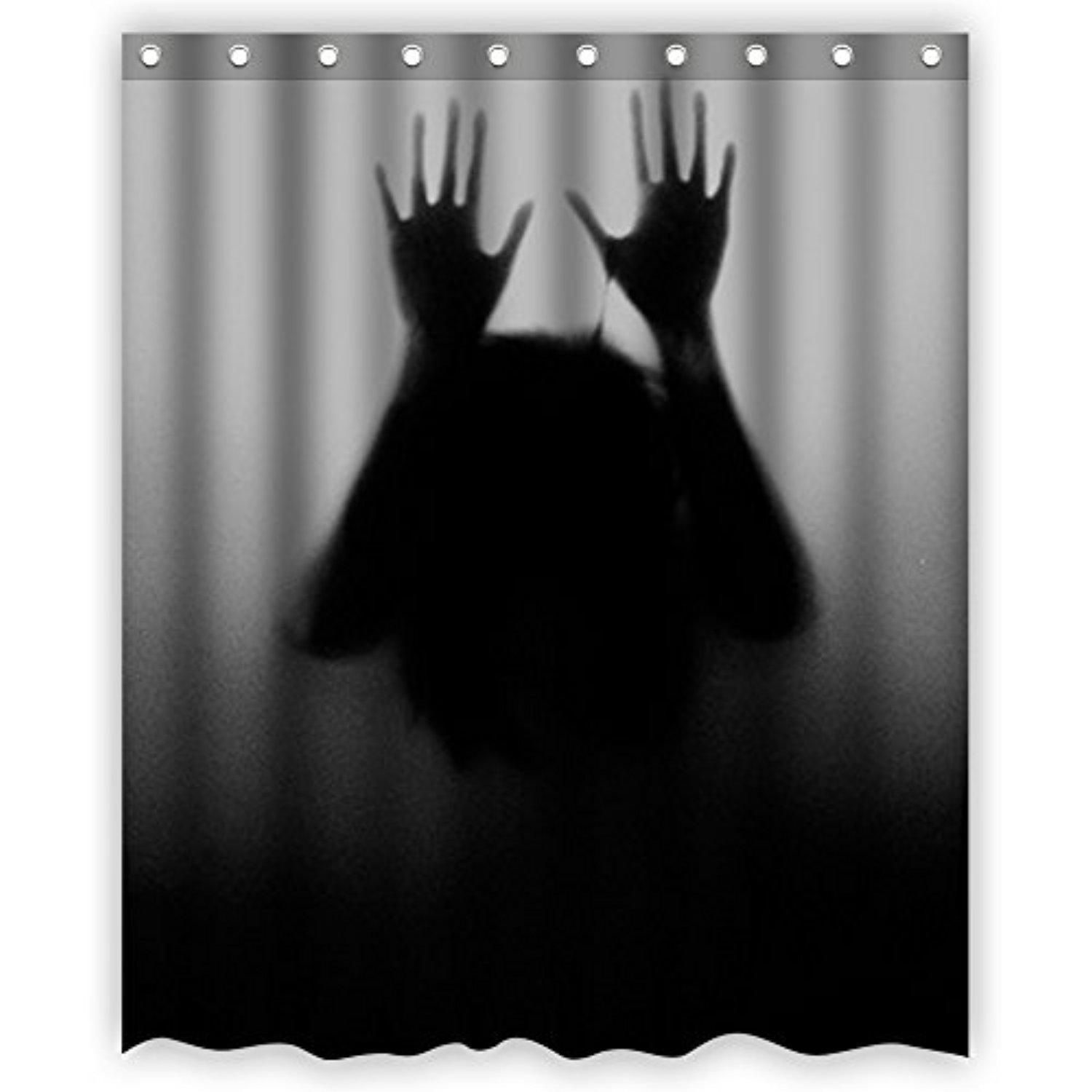Bart Help Me Ghost Horror Shadow of Hands Behind Frosted Glass ...