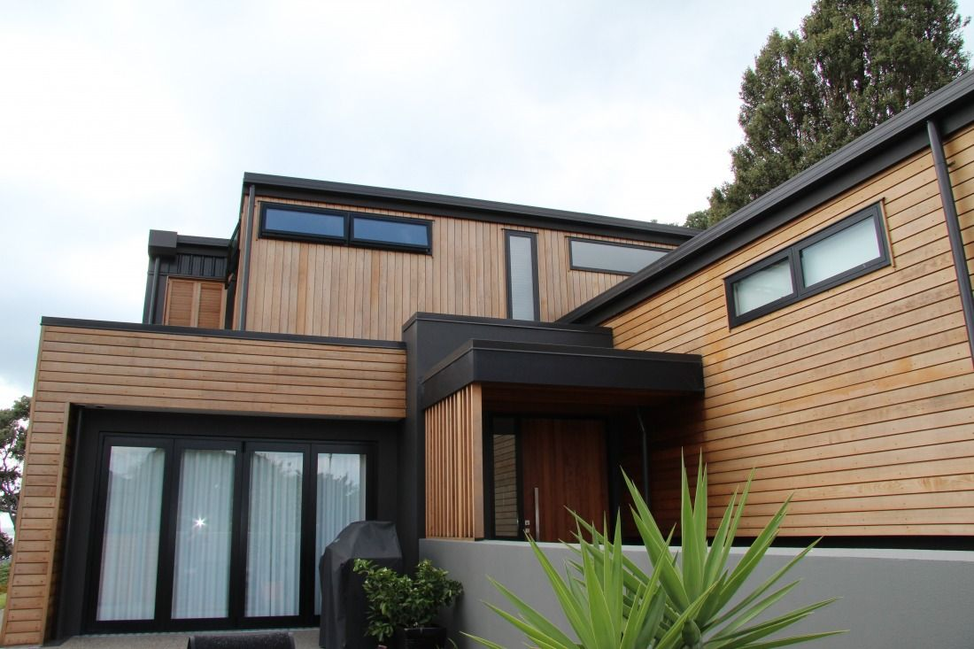 black vincent timber clad houses | Rusticated Horizontal Weatherboards Herman Pacific ...