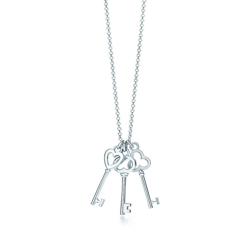 b5adba202389e Pendente três chaves mini Tiffany Keys em prata de lei.