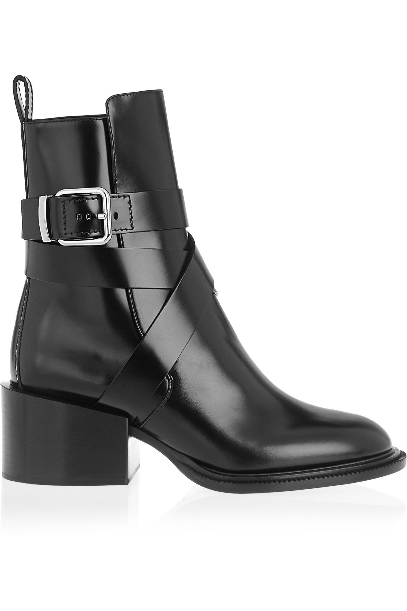 Glossed-leather Ankle Boots - Black Jil Sander 2WbsY5mQL