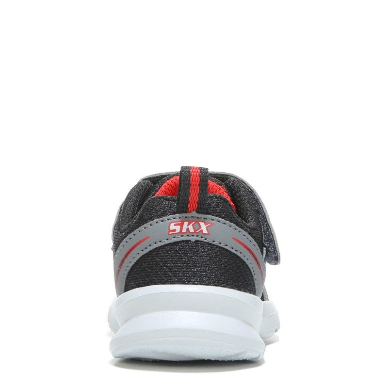 Kids Skechers Skech Stepz Wide Sneaker Toddler BlackRed
