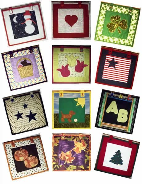 12 Months Of 12 X 12 Quilts Pattern Wall Hanging Advanced Beginner Accuquilt Go Quilt Patterns Quilted Wall Hangings Beginner Quilt Patterns Free