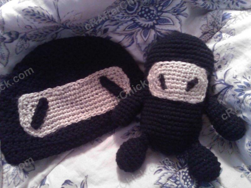 Chibi Ninja Beanie Hat ~ free pattern | CROCHET--DoLLs,ToYs, etc ...