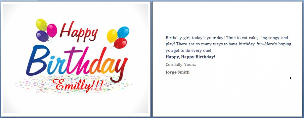 Unique Microsoft Word Birthday Card Template In 2021 Free Happy Birthday Cards Birthday Card Template Free Birthday Invitation Card Template