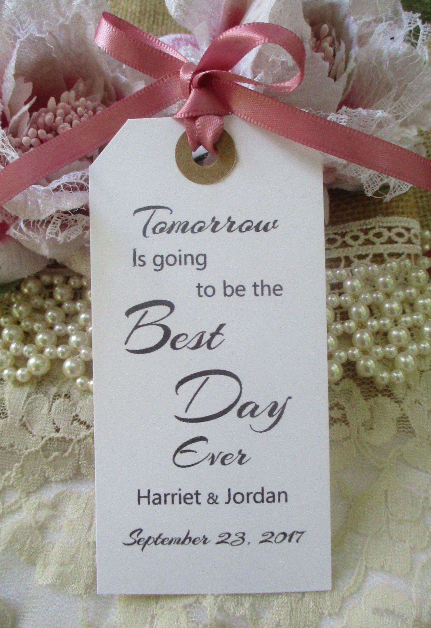 Tomorrow Is Going To Be The Best Day Ever-Personalised Wedding ...