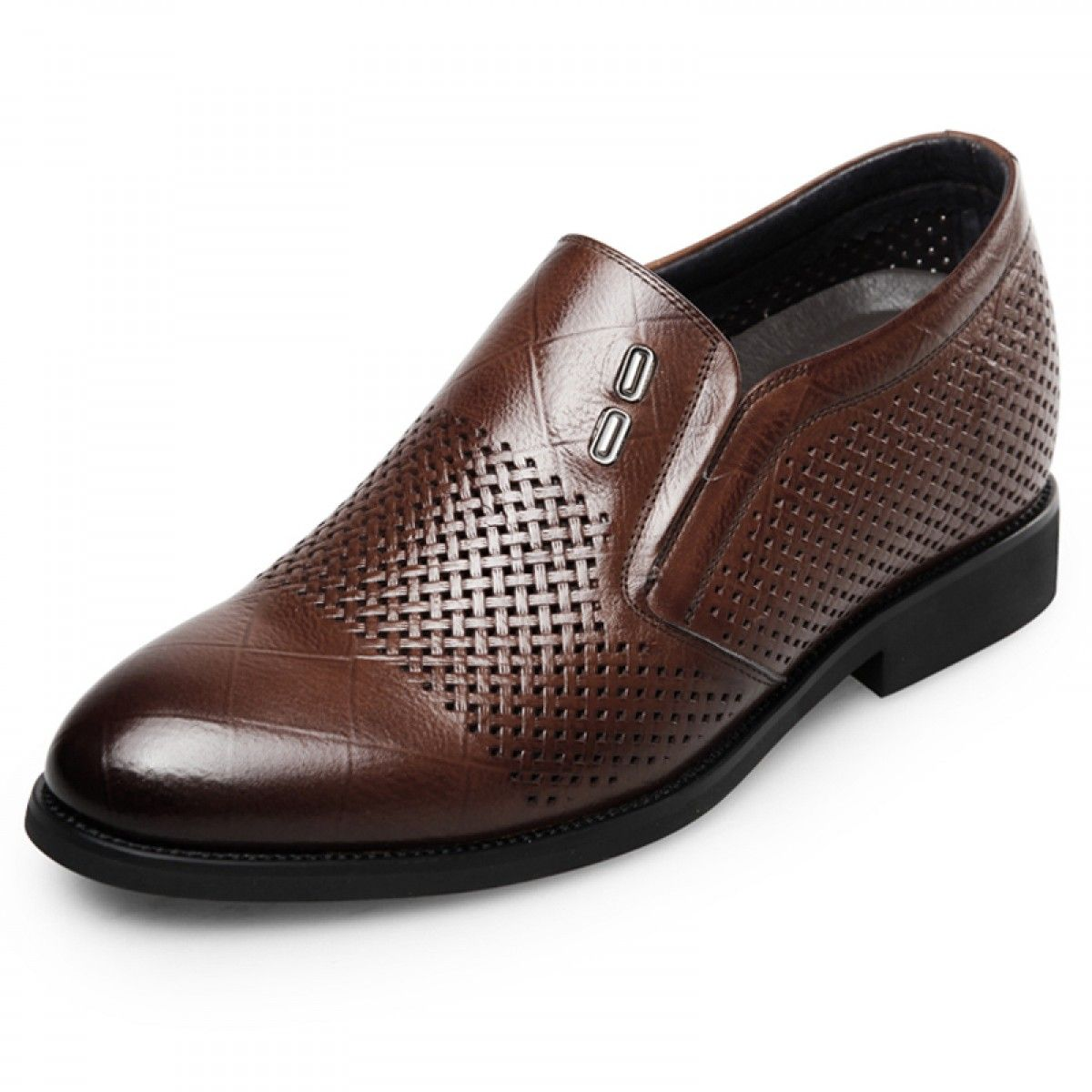 stylish slip on height increasing formal shoes 2 6inch 6