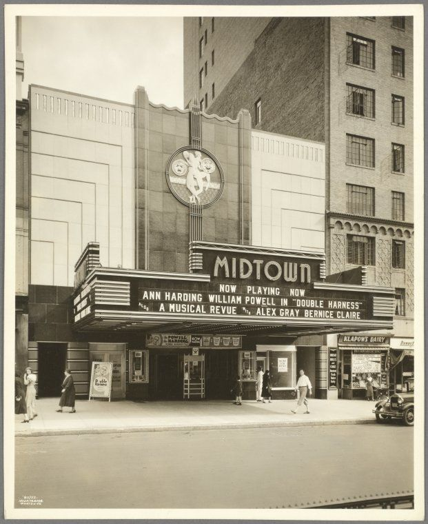 Broadway West 99th Street West 100th Street East Side Midtown Theater Exterior 1933 Nypl Digital Gallery Movie Theater Art Deco Art Deco Architecture