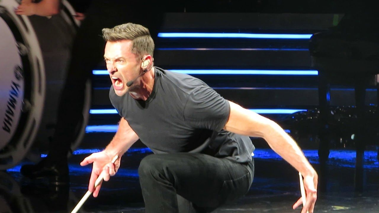 Hugh Jackman Tap Dancing Drumming And Talking In 2020 Hugh Jackman Tap Dance Jackman