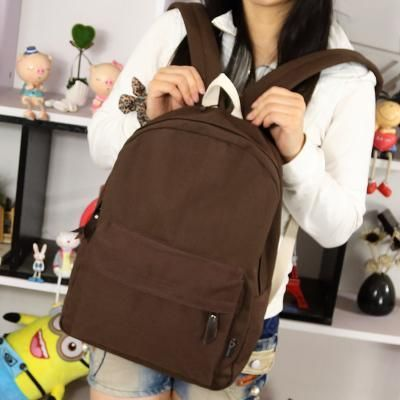 Pretty Style Canvas Candy Color Women Backpack College Student School Book Bag Leisure