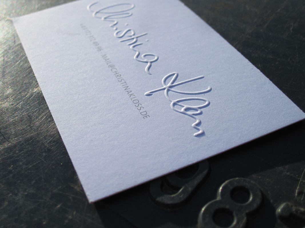 Visitenkarte Mit Blindprägung 包裝 Business Card Design