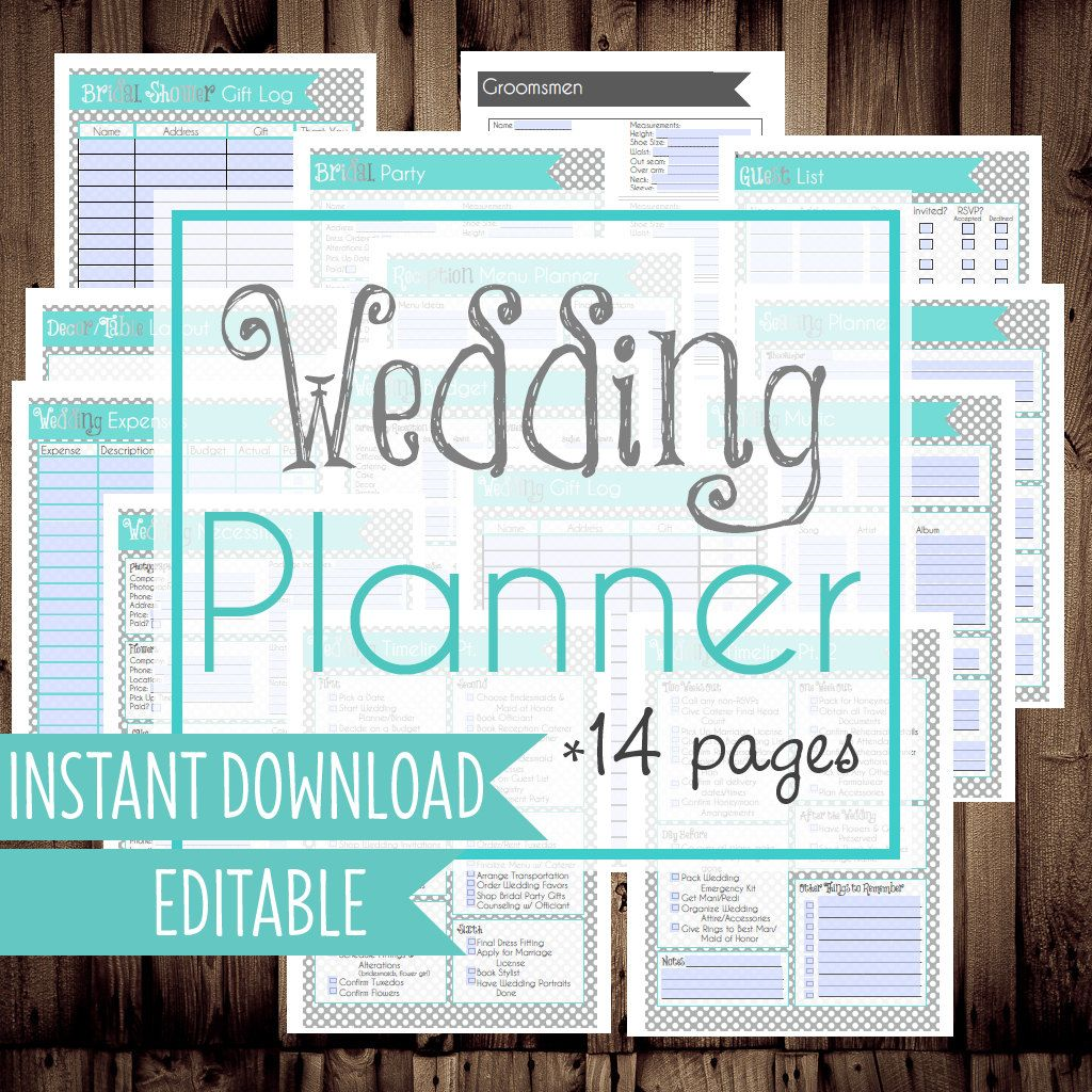 Printable Wedding Planner Checklist Free Calgi Seattlebaby Co