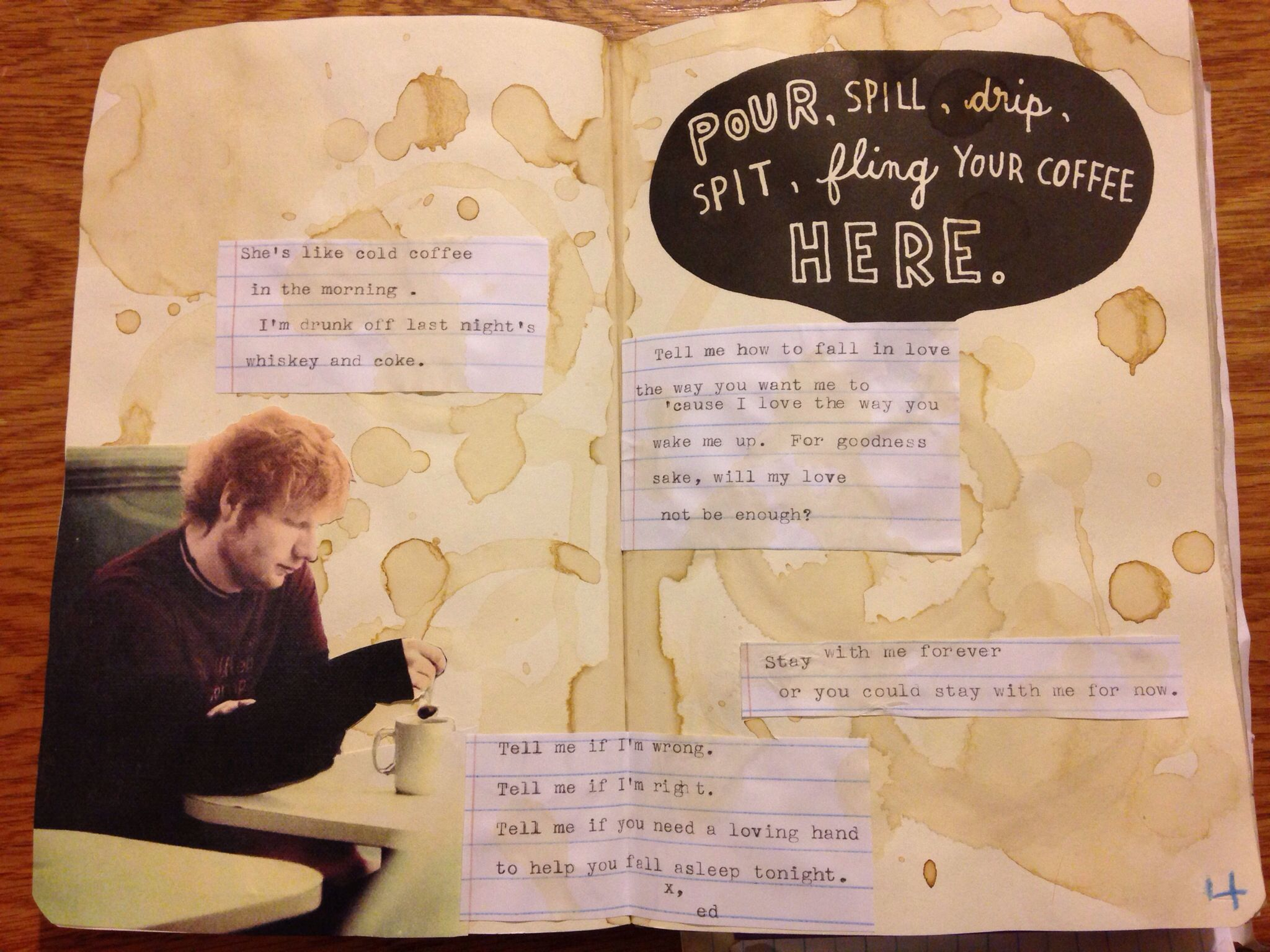My personal Coffee Page. Wreck this journal, WTJ, Ed
