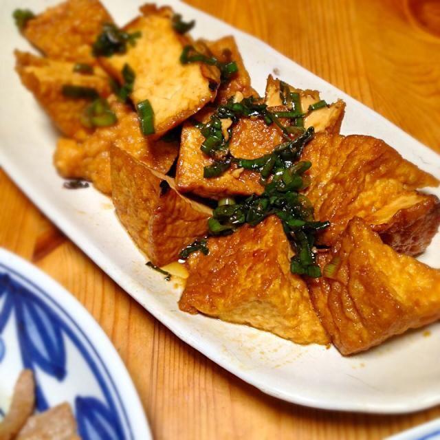 麺つゆは創味が好きです。もしくはにんべんのゴールド。 - 19件のもぐもぐ - 厚揚げの甘辛炒め煮 by lottarosie