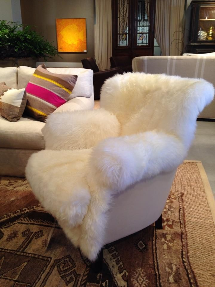 This Fuzzy White Chair Would Be A Great Place To Curl Up