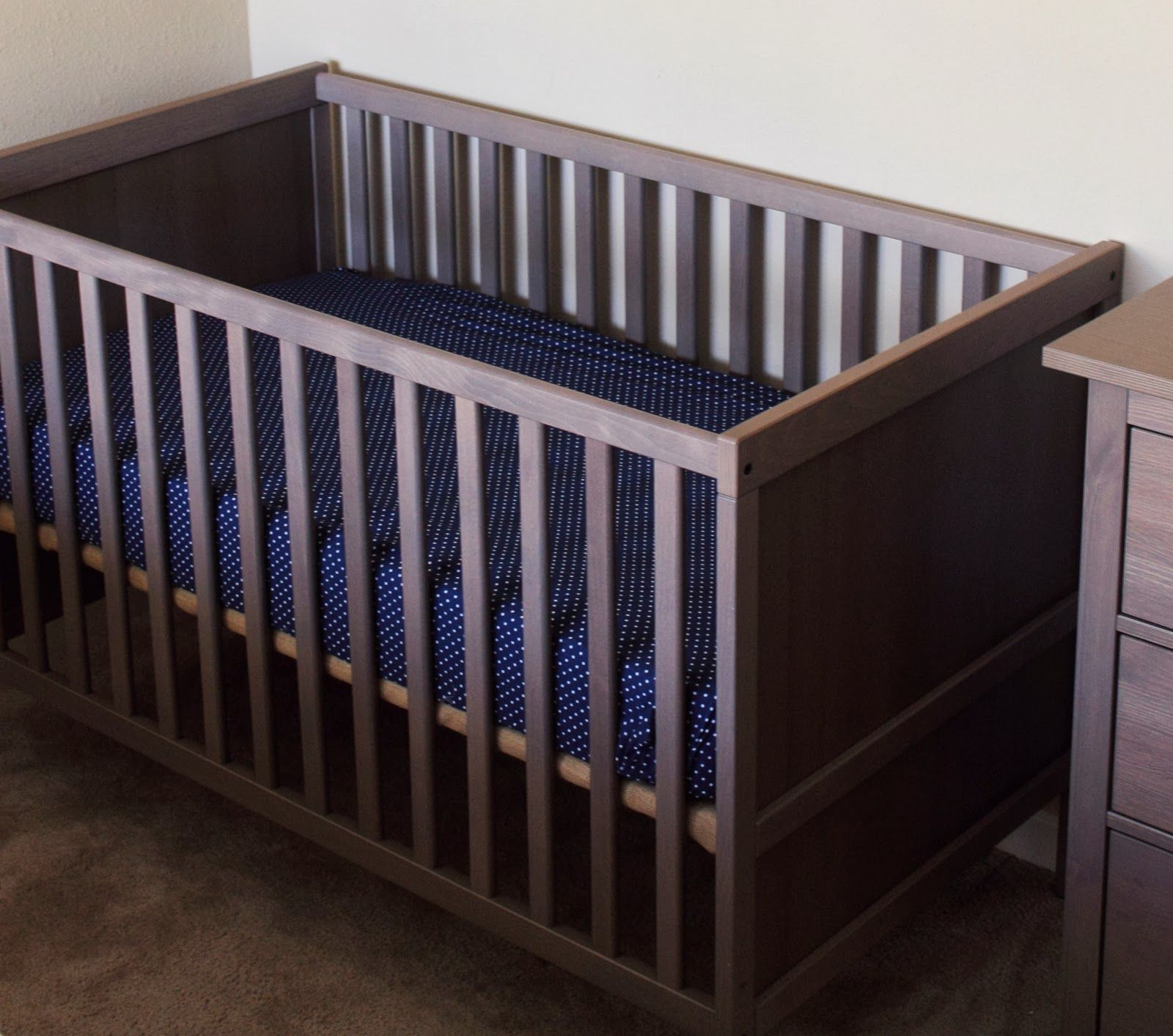 love the sundvick crib in grey brown from ikea 120