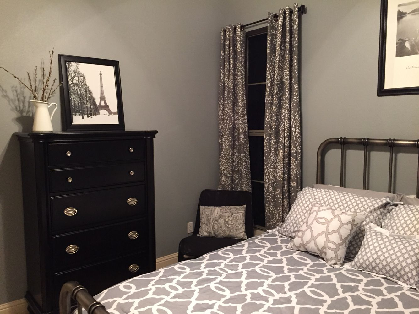 Master Bedroom Wall Colors Grey Monochromatic Guest Bedroom Wall Color Is Glidden
