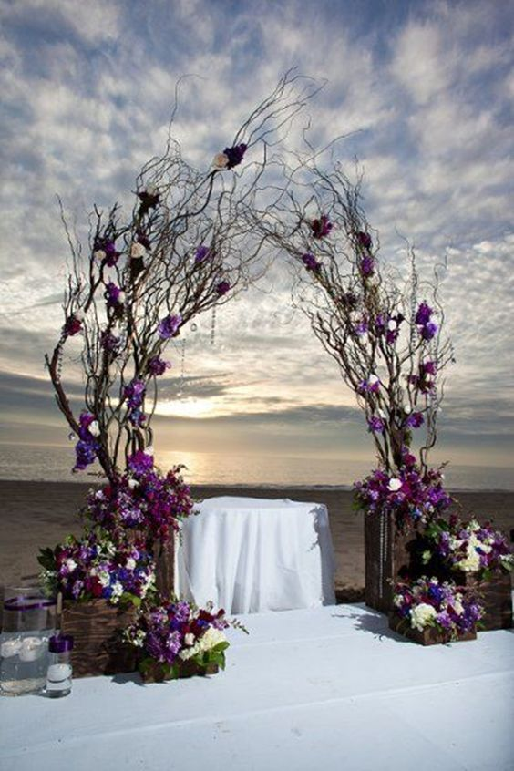 25 wedding arches decoration ideas purple wedding decorations 25 wedding arches decoration ideas junglespirit Image collections