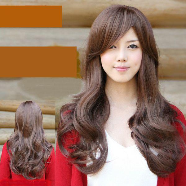 Marvelous Curl Korean Hairstyle. | Long hair styles, Wig hairstyles, Hair styles