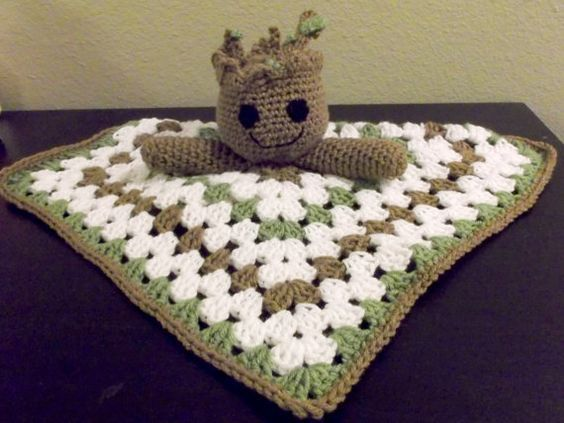Amigurumi Patterns Groot : Baby groot guardians of the galaxy snuggle by crazyjanescustoms