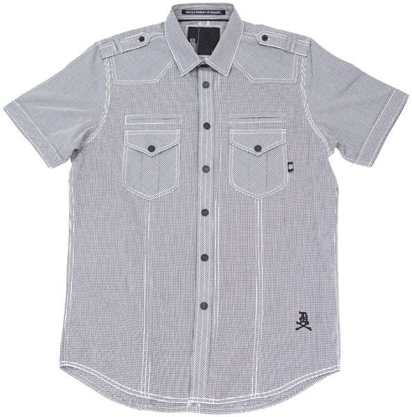 Liberty S/S Button Up Shirt (Black/White Gingham)