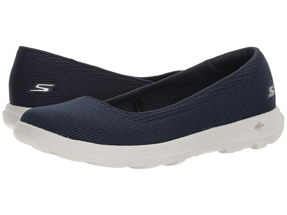 57cc3d95d3018 SKECHERS Performance Go Walk Lite - Dreamer (Navy/Gray) Women's Slip on  Shoes. Iconic design and premium materials fuse with innovative SKECHERS  Performance ...