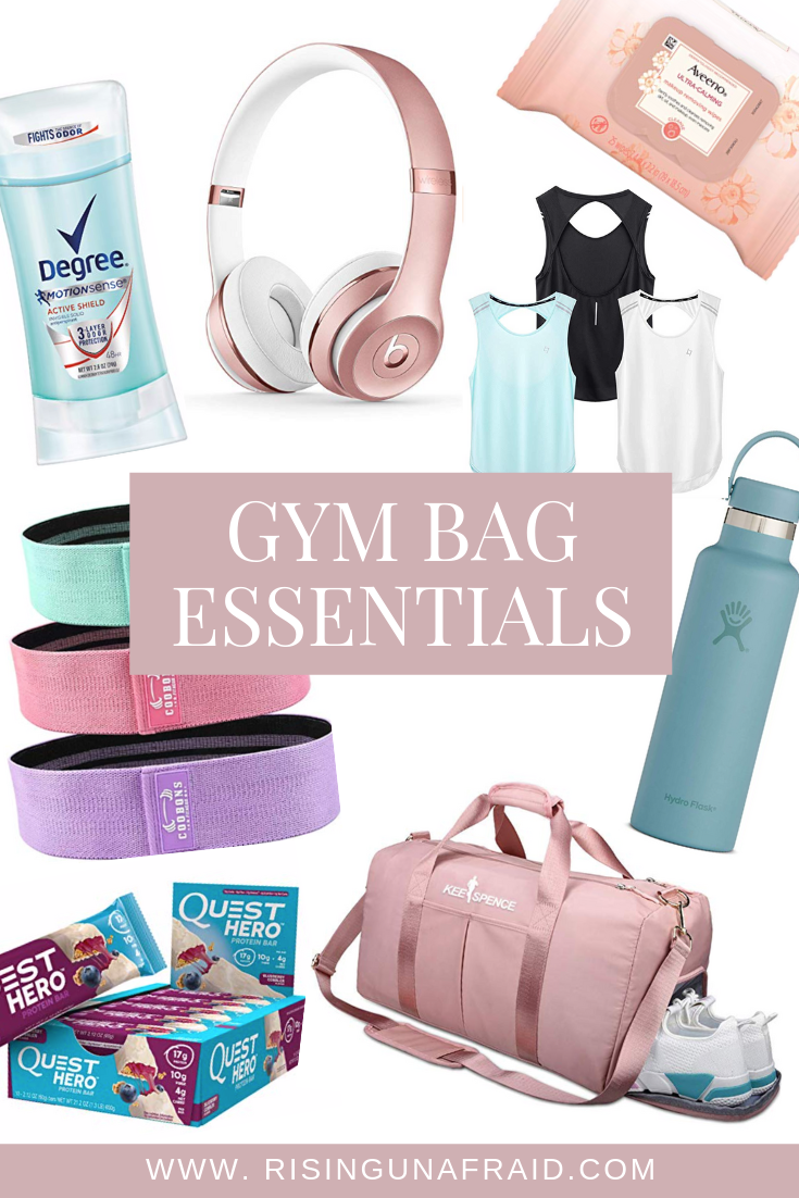 Making sure that your gym bag is packed with all the essentials before heading out to the gym can you make sure you have everything you need for a killer workout. Here are 8 must-have items for your gym session!   #workout #fitness #gym #tips #health #wellness #gymbagessentials #fitnessapparel #actawear #acta
