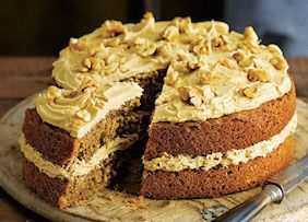This coffee and walnut cake is a guaranteed crowd pleaser.