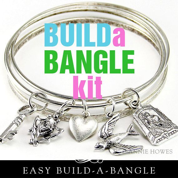 Diy Bangle Charm Bracelet Kit Make Your Own By Anniehowes