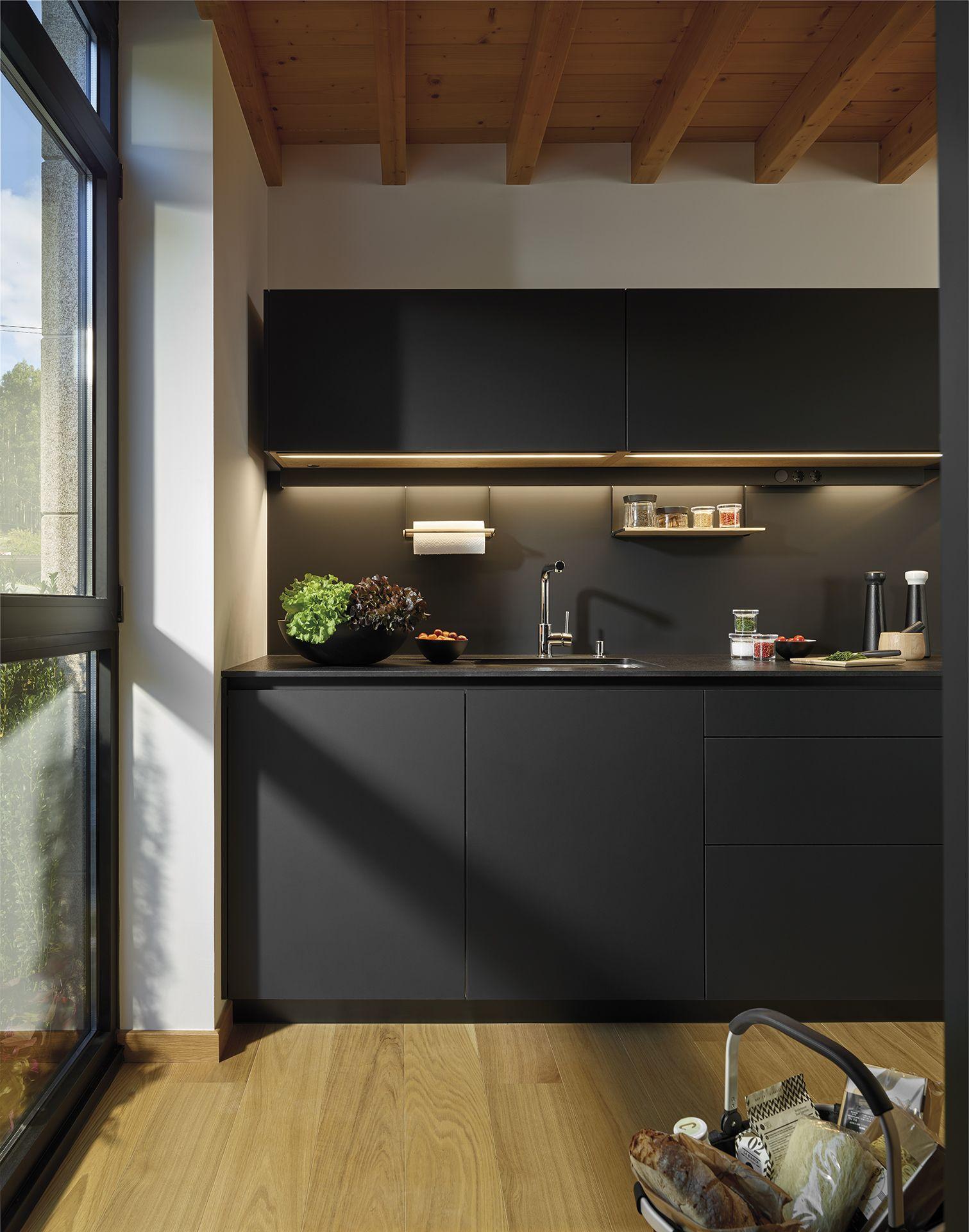 Cocina en negro, un toque elegante y moderno. | Kitchen | Pinterest ...