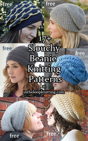 Beanie Hat Knitting Patterns   Gorros, Dos agujas y Tejido
