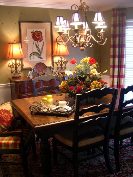 Intimate and inviting small dining room