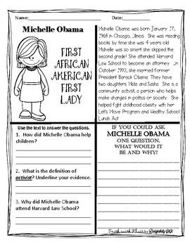 Flairsquare Michelle Obama In 2021 Michelle Obama Student Information Three Letter Words Barack obama worksheets for kindergarten