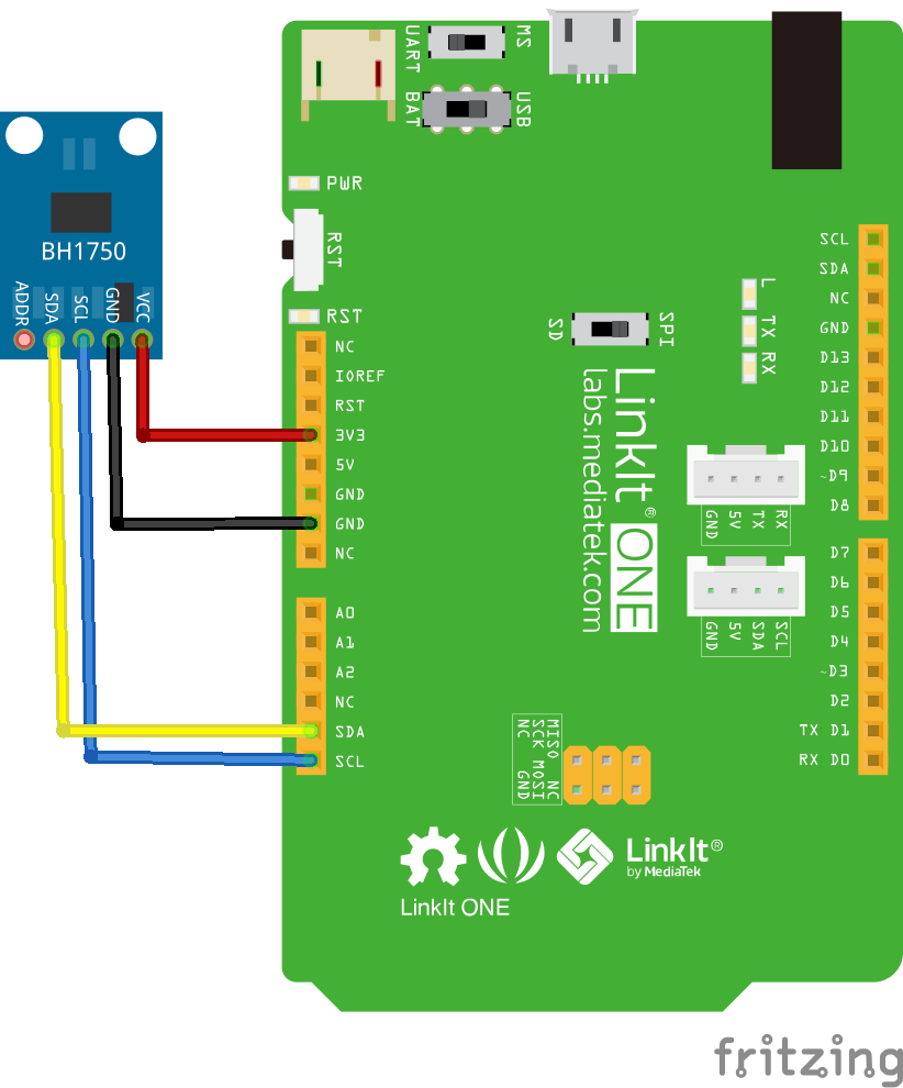 Bh1750fvi Is An Digital Ambient Light Sensor Ic For I2c Bus Arduino Colour Circuit Interface