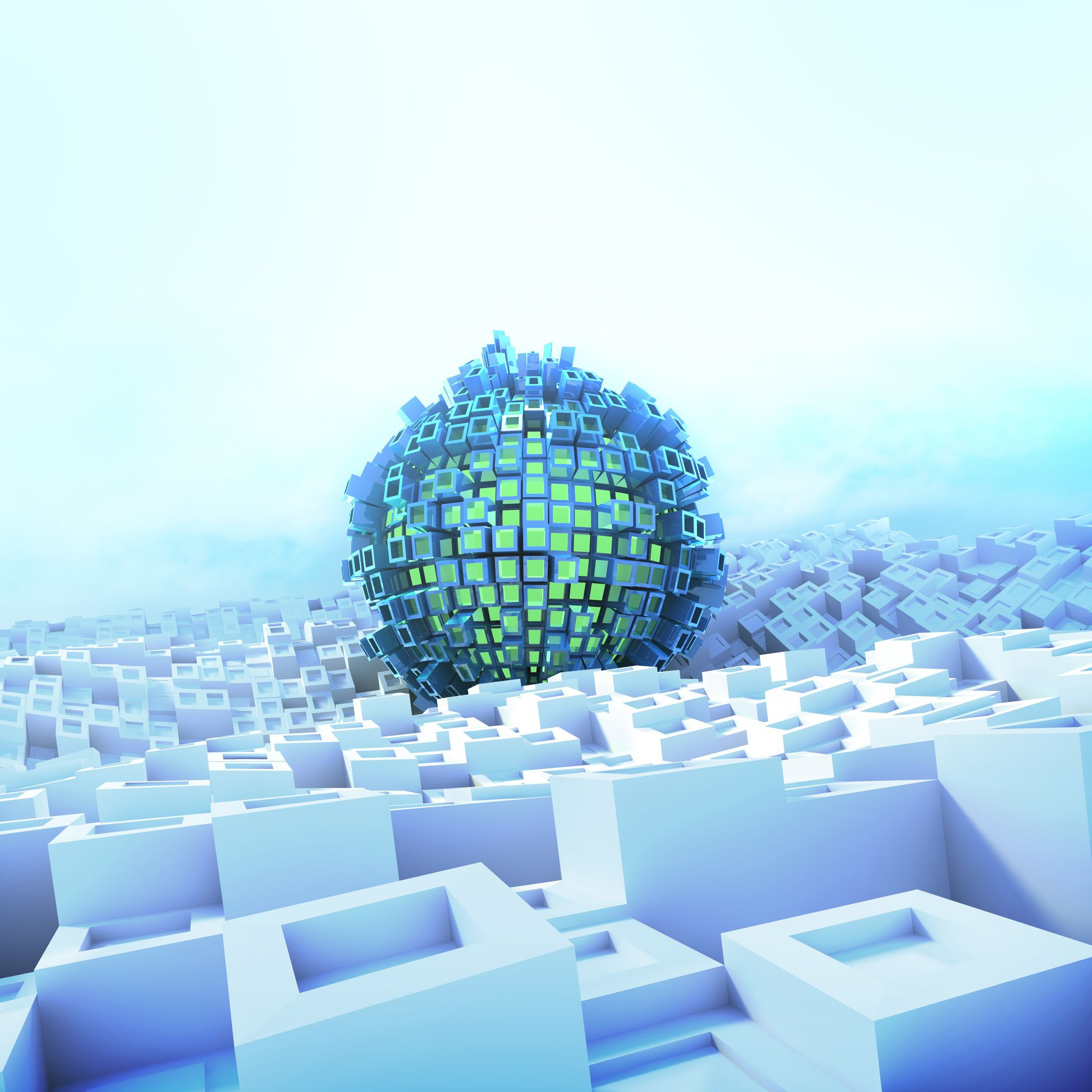 Abstract Green Sphere. Tap To See More 3D Geometric IPhone