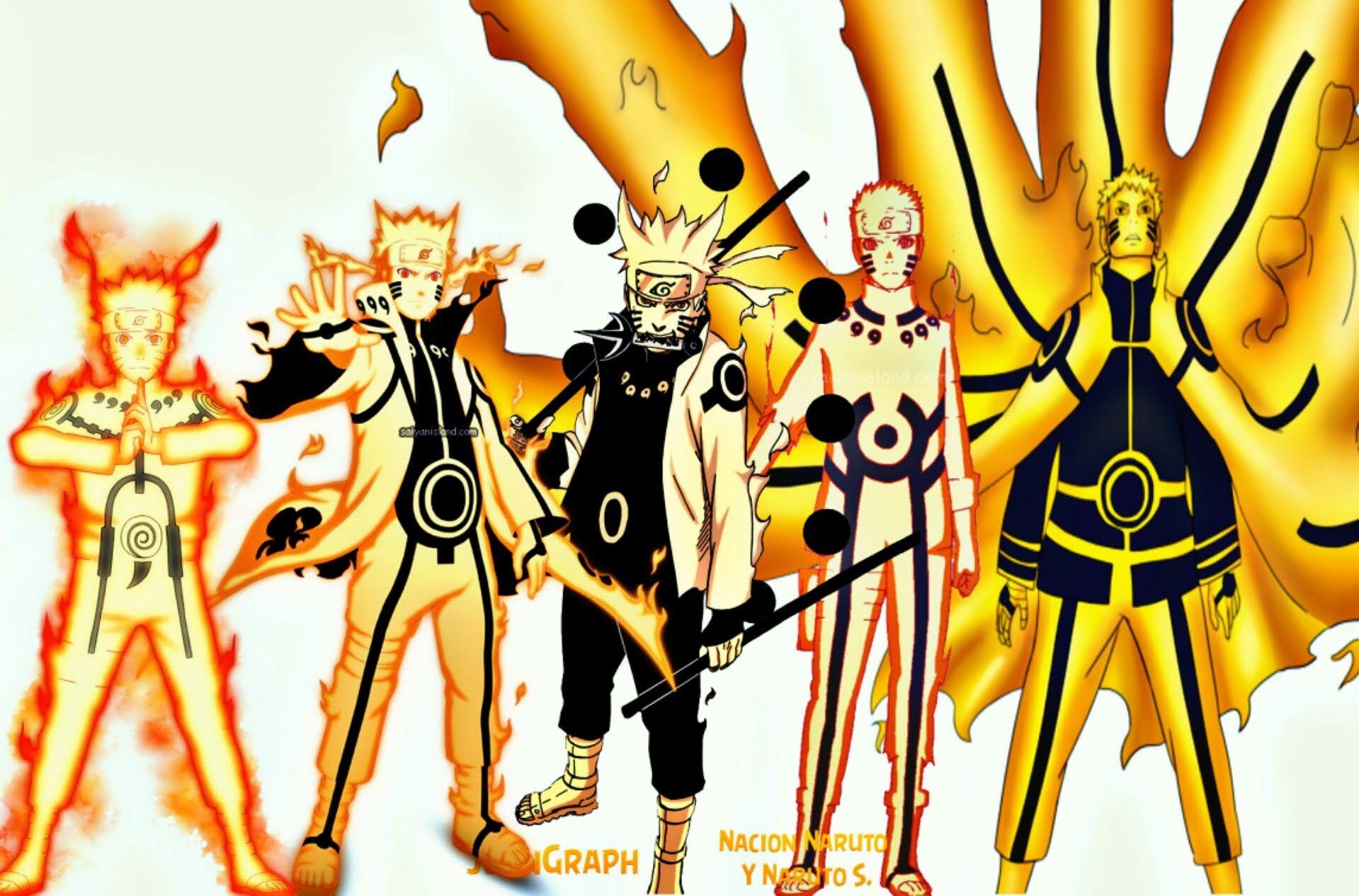 Top 20 Strongest Naruto Uzumaki Forms,Modes 2016
