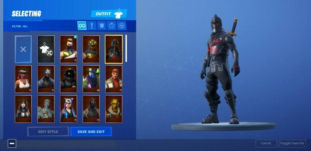 400 Og Fortnite Account Black Knight John Wick And Many More Skins