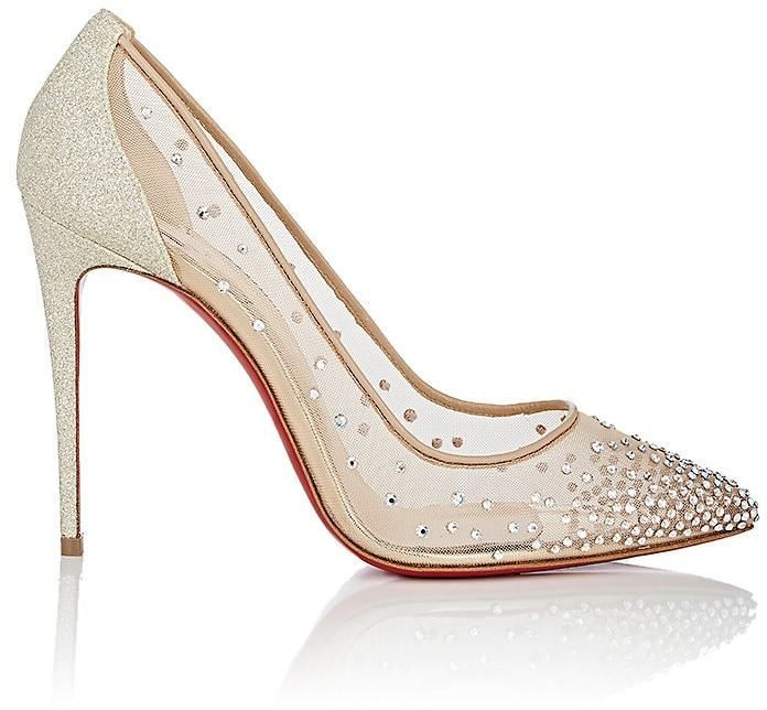 ca380197b5b7 Christian Louboutin Women s Follies Strass Mesh   Glitter Pumps - wedding  shoes for brides  ad