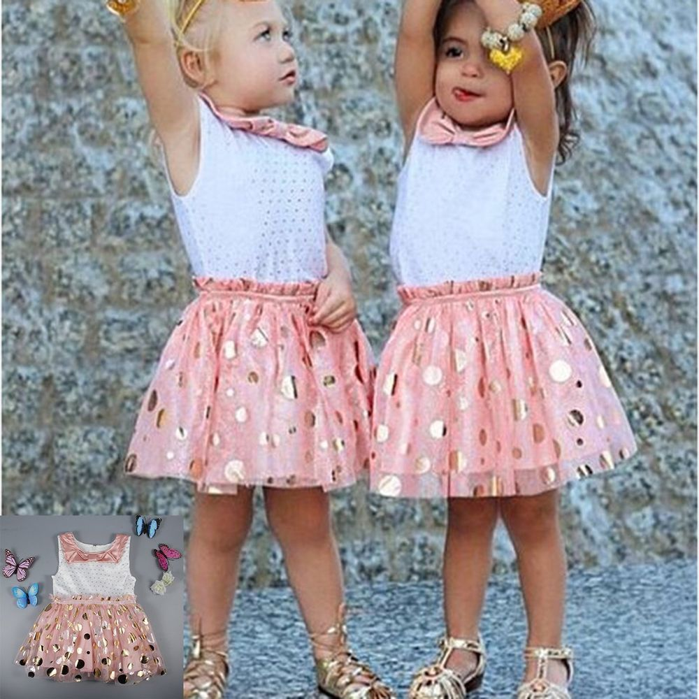 Toddler Baby Kids Girl Dress Party Wedding Pageant Dresses Sundress Tutu Clothes