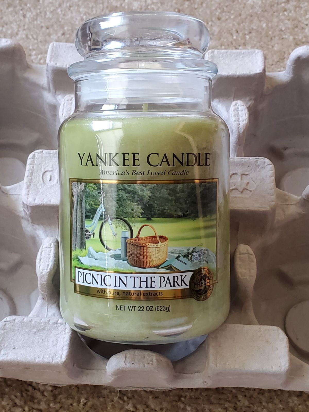 2017 22oz Yankee Candle Picnic In The Park Retired Scent Yankee Candle Picnic Candles Yankee Candle Scents