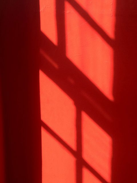 Window frame shadow on tenement close, Byres Road, Glasgow by Stuart Neville, via Flickr