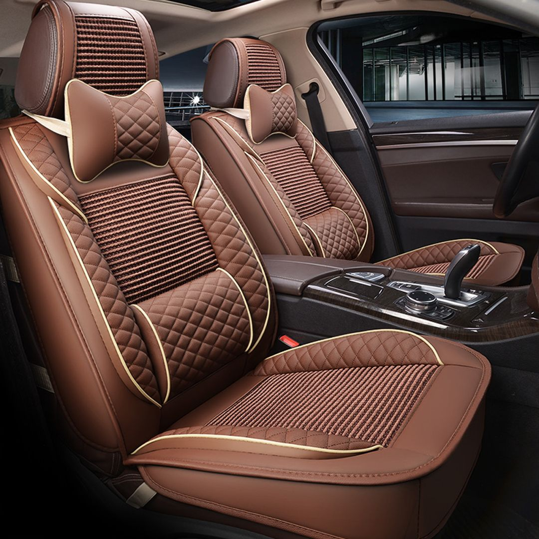 Classic Designed For Comfort Breathable Linen Universal Car Seat Covers Car Seats Leather Car Seat Covers Custom Car Interior
