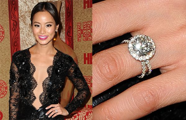 Prepare To Be Blinded By These Gorgeous Celebrity Engagement Rings Celebrity Halo Engagement Rings Celebrity Engagement Rings Best Engagement Rings