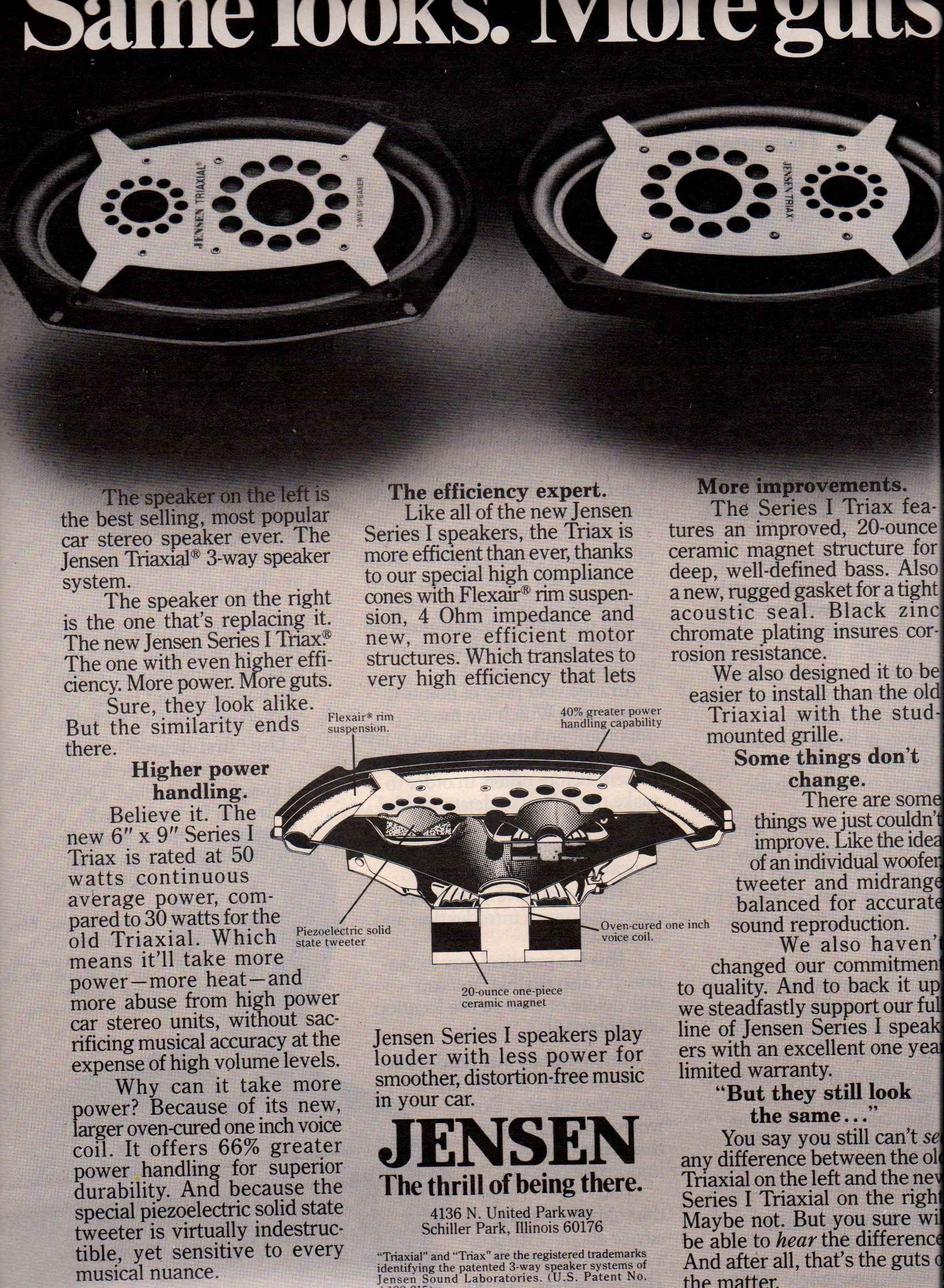 1980 jensen series 1 triax speakers ad rolling stone college papers spring 1980 [ 1700 x 2320 Pixel ]