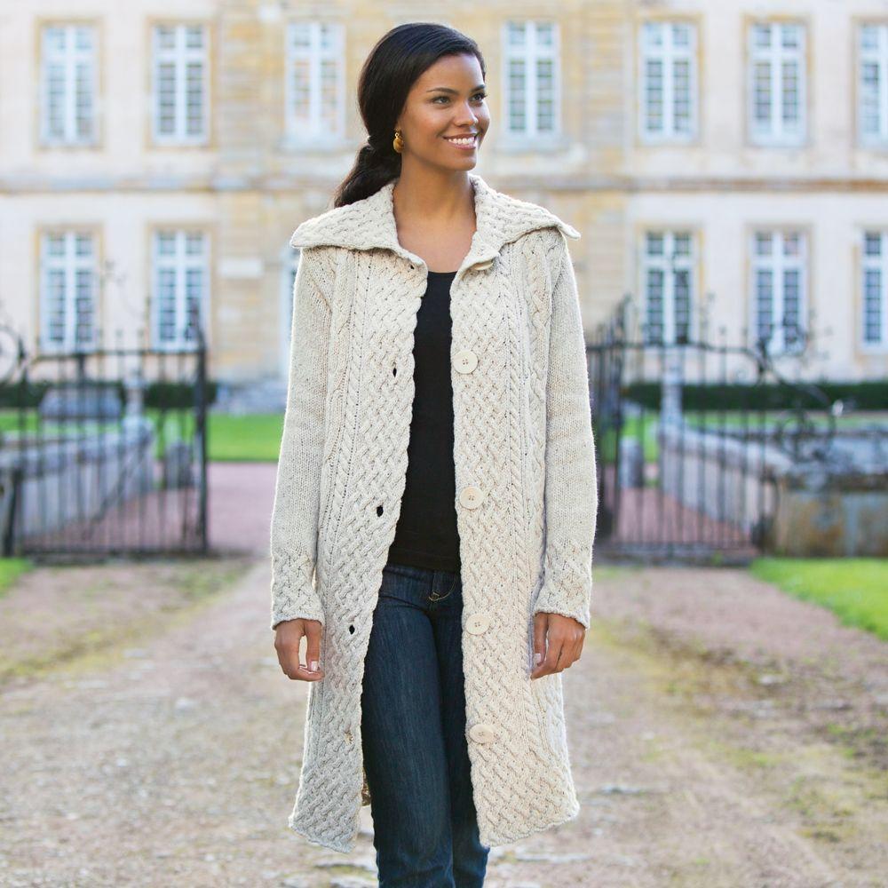 Aran Sweater Coat   Aran sweaters, Store and Wool sweaters