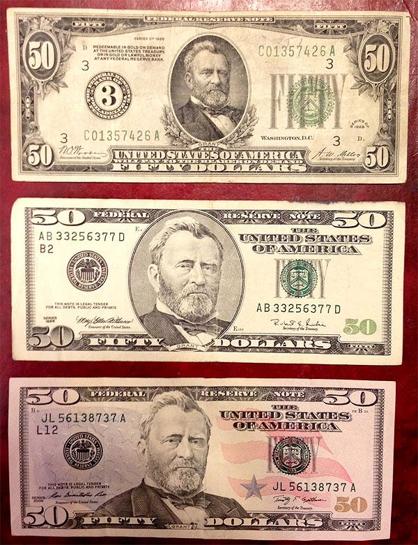 history 50 dollar bill front   Coin Thrill   Coins worth