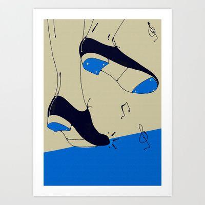 tap dancing  Art Print Promoters