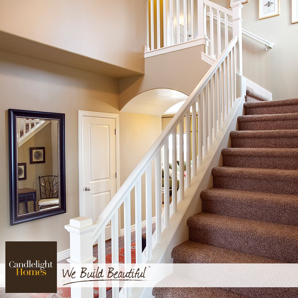 This Stunning Staircase Is Giving Us Major Décor Envy! #CandlelightHomes  #utahhomes #utahbuilder. Staircase RailingsStaircasesCarpet StairsUtahThe  ...