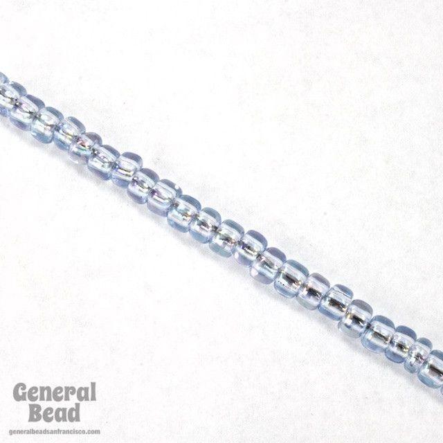 6/0 Transparent Light Sapphire AB Japanese Seed Bead