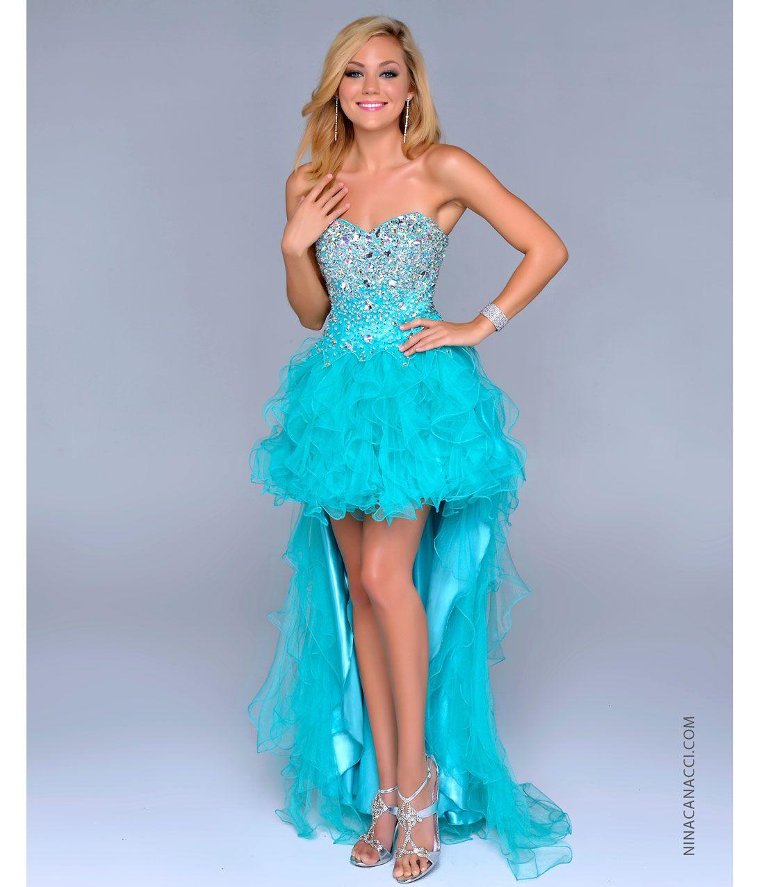 Light Blue High Low Prom Dresses 72894 | NEWSBD